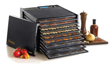 Load image into Gallery viewer, Excalibur 2900ECB 9-Tray Food Dehydrator with Adjustable Thermostat for Temperature Control Patented Technology for Faster and Efficient Drying 15 Square Feet Drying Space Made in USA, 9-Tray, Black