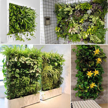 Load image into Gallery viewer, Ogrmar 64 Pockets Vertical Wall Garden Planter Plant Grow Bag for Flower Vegetable for Indoor/Outdoor (64 Pockets, Black)