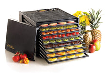 Load image into Gallery viewer, Excalibur 3926TB 9-Tray Electric Food Dehydrator with Temperature Settings and 26-hour Timer Automatic Shut Off for Faster and Efficient Drying Includes Guide to Dehydration Made in USA, 9-Tray, Black
