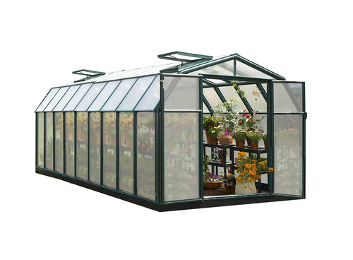 Hobby Gardener 2 Twin Wall Greenhouse, 8' x 20'