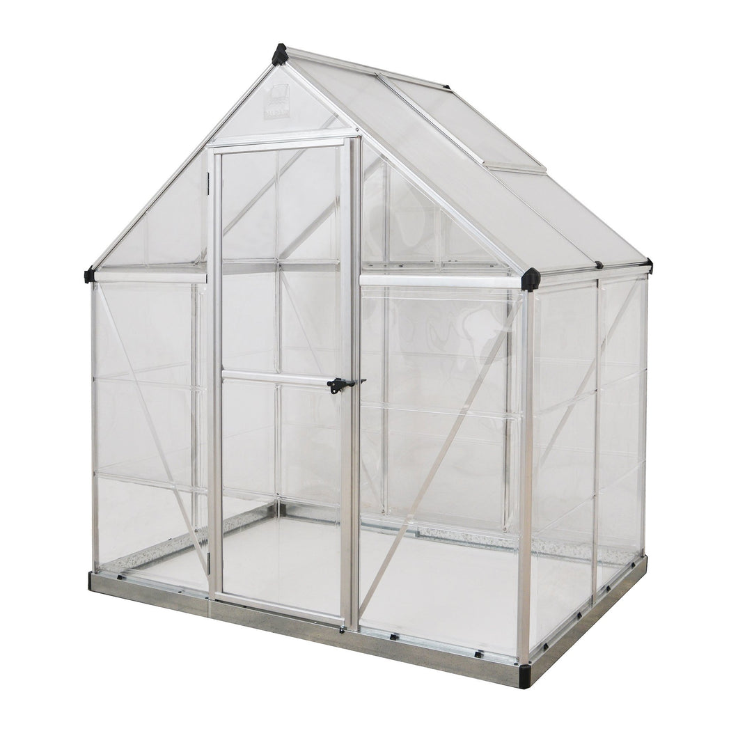 Palram Nature Series Hybrid Hobby Greenhouse - 6' x 4' x 7', Silver