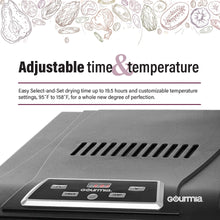 Load image into Gallery viewer, Gourmia GFD1650 Premium Electric Food Dehydrator Machine - Digital Timer and Temperature Control - 6 Drying Trays - Perfect for Beef Jerky, Herbs, Fruit Leather - BPA Free - Black
