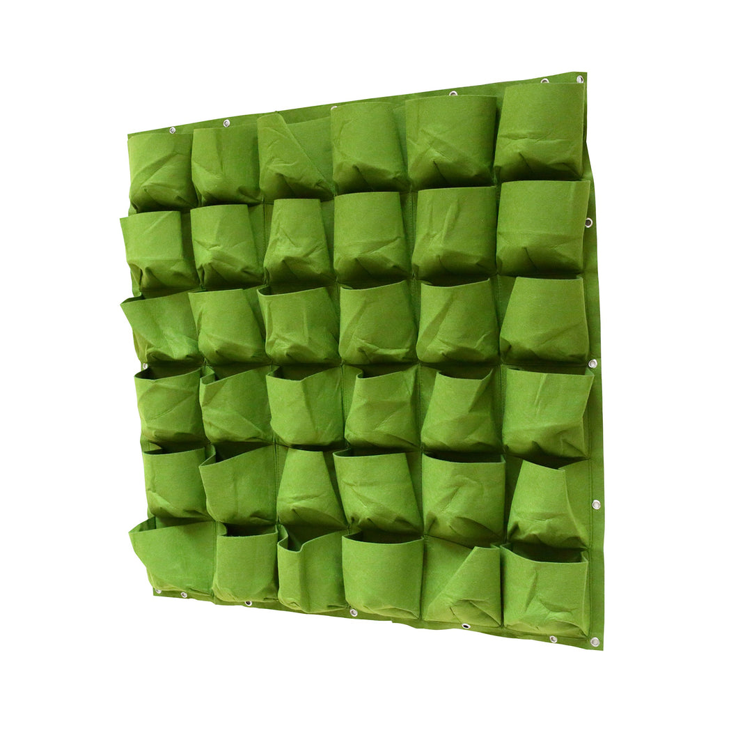 Prudance Vertical Wall Garden Planter, 36 Pockets, Wall Mount Planter Solution (40 in x 40 in)