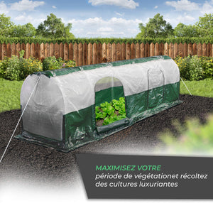 Bio Green SD300 Superdome Growtunnel, Garden Cl Length 9.8 x Width 2.3 ft, 2.6 x 2.3X 9.8', Transparent/Green