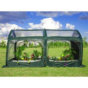 UPF 50+ Pop up Greenhouse,Cold-Treated Clear PVC and Durable 600D Oxford Flower House for Plants,Outdoor Portable Greenhouses with 4 Zipper Doors Backyard Warm House