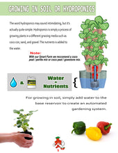Load image into Gallery viewer, Mr. Stacky Smart Farm - Automatic Self Watering Garden - Grow Fresh Healthy Food Virtually Anywhere Year Round - Soil or Hydroponic Vertical Tower Gardening System (Standard Kit, Stone)