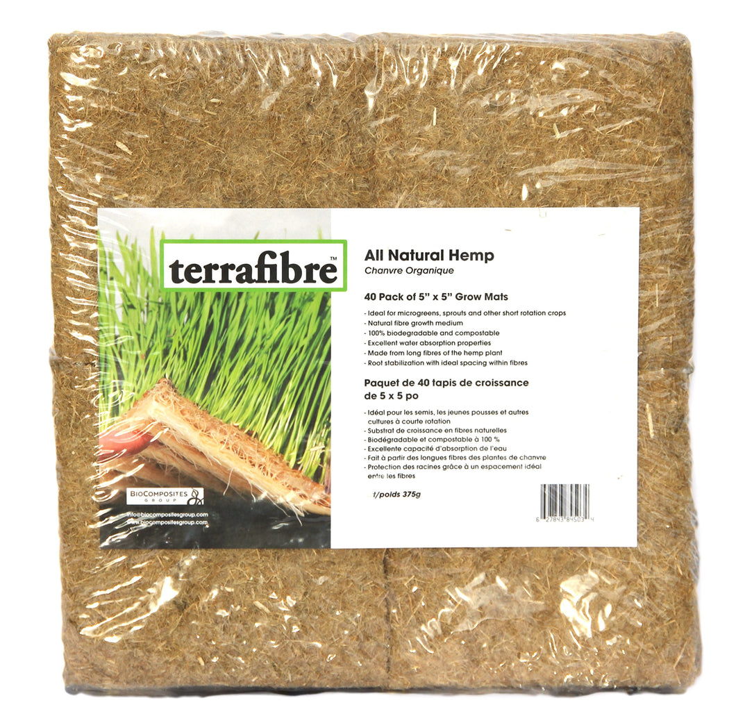 Hemp Grow Mat - Perfect for Microgreens, Wheatgrass, Sprouts - 40 Pack 5