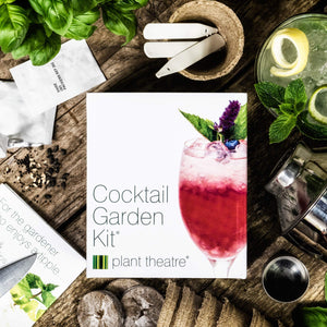 Plant Theatre Cocktail Garden Kit - 6 Varieties to Grow - Great Grow Kit Gift for The Gardener - Everything You Need to Start Growing in one Box!