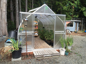 Climapod 9x14 6-MM Twin-wall Polycarbonate Greenhouse, Virtue COMPLETE kit