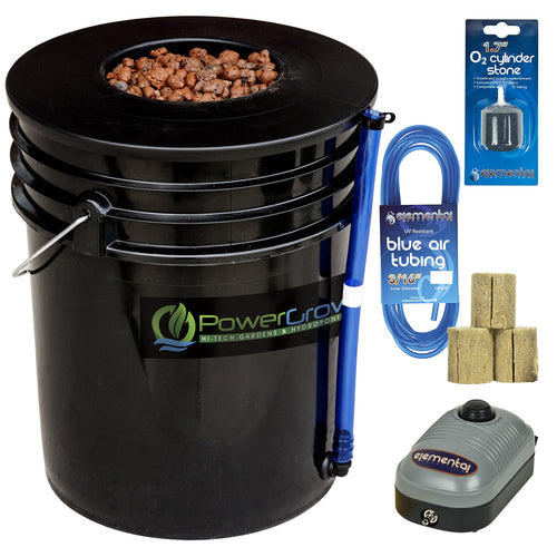 Deep Water Culture (DWC) Hydroponic Bucket Kit 5 Gallon, 6 inch