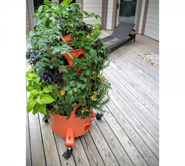 Garden Grow Tower With Caster Wheels - This Is What You Get With The Combo Kit