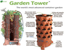 Load image into Gallery viewer, Garden Grow Tower 2 Terra Cotta With Caster Wheel Kit Combo