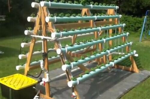 Large Vertical Hydroponic - Aquaponics System - Big Enough For The Neighborhood!