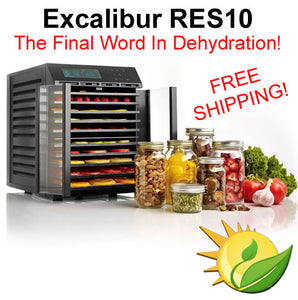 Excalibur RES10 Digital Dehydrator - 10 Tray, 2 Zone Stainless Steel Trays (FREE SHIPPING!)