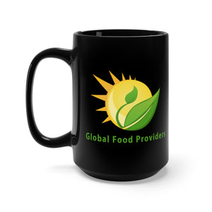 Global Food Providers Large Black Mug - 15 oz