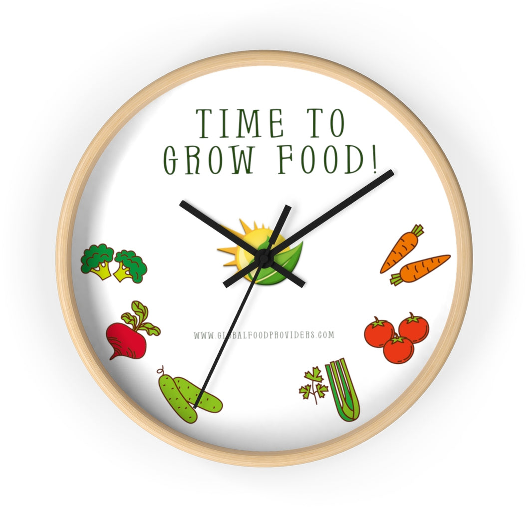 Time To Grow Food - Wall clock