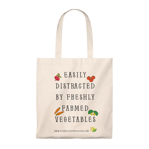 Easily Distracted Tote Bag - Vintage - Beautiful, 100% Cotton