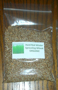 1/2 Lb. Organic Sprouting Hard Red Wheat Grass Seeds for Juice Medicinal Health
