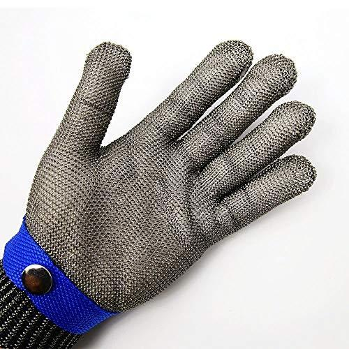 316L Stainless Steel Mesh Cut Resistant Gloves Kitchen Butcher Safety  Working Glove Level 5 Protection Size L (4)