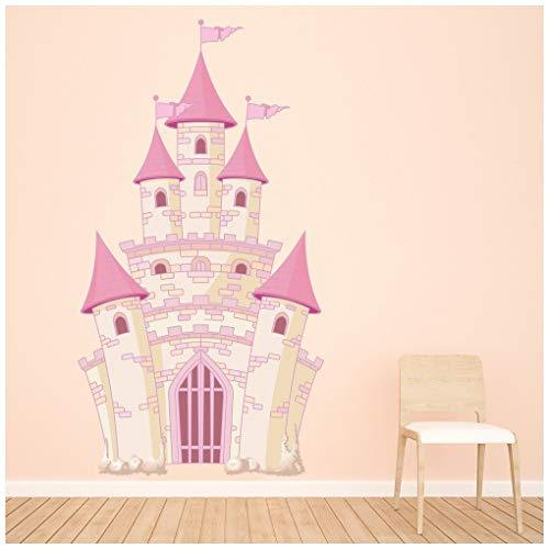 azutura Pink Princess Castle Wall Sticker Fairytale Wall Decal Girls  Bedroom Home Decor available in 8 Sizes Gigantic Digital