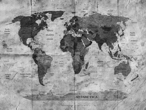 Bilderdepot24 self-adhesive photo wallpaper world map retro II - black and  white 51.18 inch x 39.37 inch (130x100 cm) - direct sale by the ...