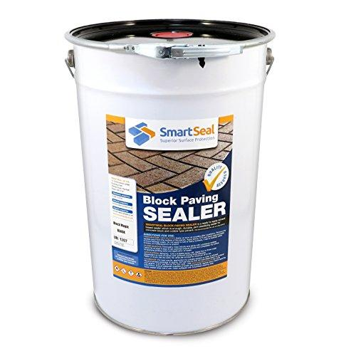 'Block Magic' Re-Colouring Sealer - Black - Add Colour to Your Old Block Paving to Make it Look Like New (25 Litre)