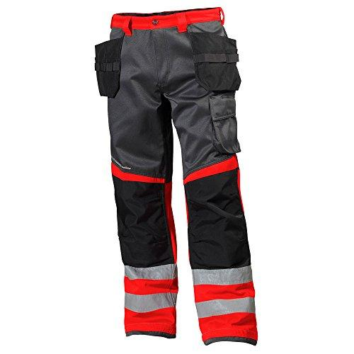 'Helly Hansen Workwear Tradesman Hi-Vis Trousers 34 - 077412 - 169 - C52 Alna Helly Hansen Red C52, Pack of 1