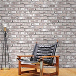 'Irwell' Photo Realistic Limited Edition Brick Effect Wallpaper in Grey (Full Roll)