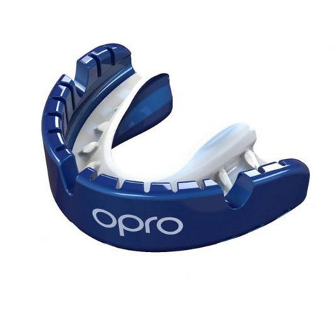 OPRO Gold Braces Mouthguard - Blue