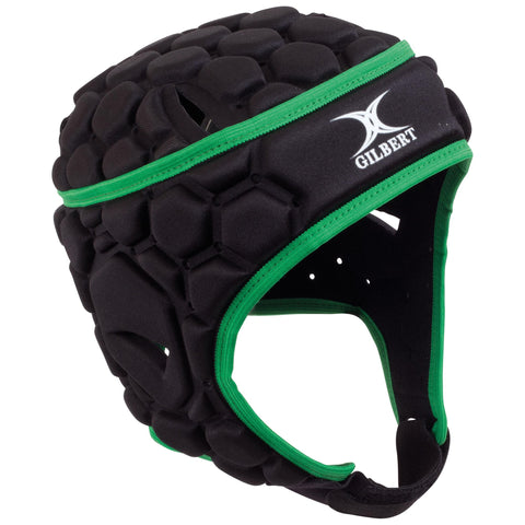 Gilbert Falcon Head Gear - Black & Green - Rugby