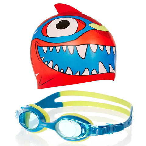 SPEEDO Sea Squad Cap & Goggle Set