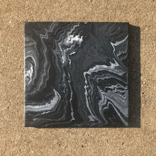 "Load image into Gallery viewer, ""Storm"" Black & White 12x12 Painting"