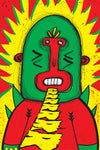 Monkey in carnival / 4 inks silk screen poster 20x30cm