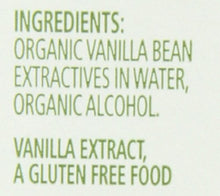 Load image into Gallery viewer, Simply Organic Pure Vanilla Extract, Certified Organic, 4-Ounce Glass Bottle