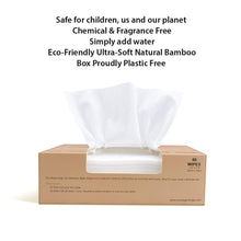 Load image into Gallery viewer, Natural 100% Bamboo Dry Baby Wipes, Use Dry or as Water Wipes, 80 Disposable Wipes in a Plastic-Free Box