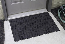 Load image into Gallery viewer, Durable Durite Recycled Tire-Link Outdoor Entrance Mat, Herringbone Weave