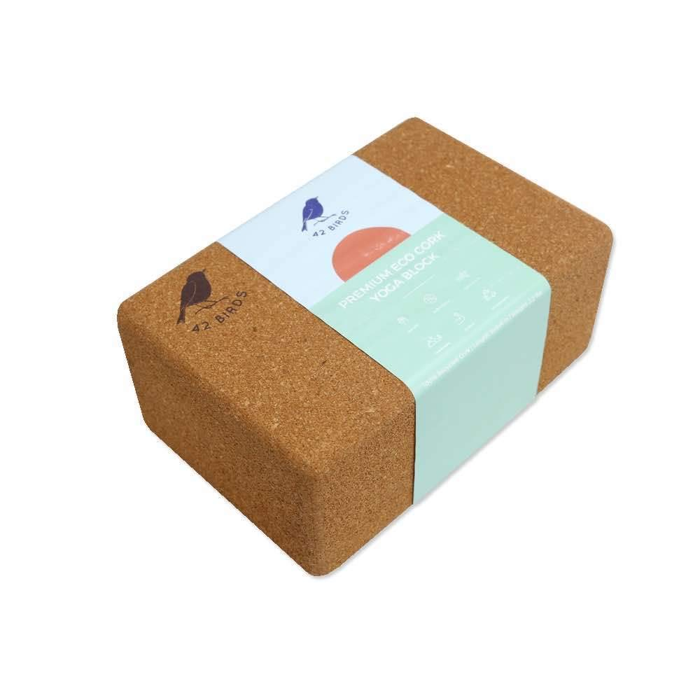 100% Recycled Cork Yoga Block, 9
