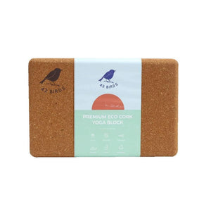 "100% Recycled Cork Yoga Block, 9"" x 6"" x 4"" -1% for The Planet"
