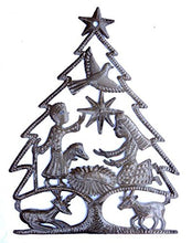 Load image into Gallery viewer, Nativity, Christmas Tree, Haiti Metal Art, 13 x 17 inches