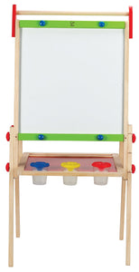 Award Winning Hape All-in-One Wooden Kid's Art Easel with Paper Roll and Accessories