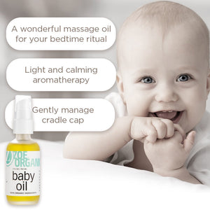 Organic Baby Oil: Calming Blend of Lavender and Chamomile Moisturizes Baby's Delicate Skin