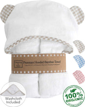 Load image into Gallery viewer, Baby Hooded Bamboo Towel and Washcloth Gift Set