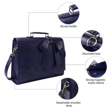 "Load image into Gallery viewer, ECOSUSI Vegan  Laptop Bag/Briefcase/Crossbody Messenger Bag   Fit 14"" Laptop"