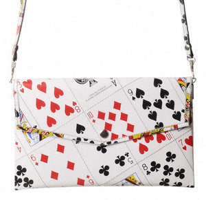 Small Thin Clutch Purse Made From Recycled Playing Cards