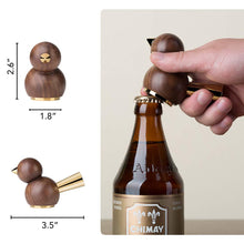 Load image into Gallery viewer, Handcrafted Bird Shaped Black Walnut and Copper  Beer Bottle Opener