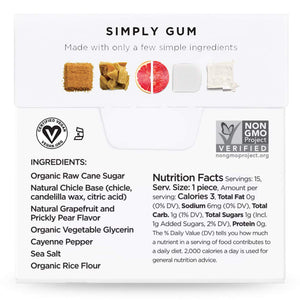 Simply Gum Natural Chewing Gum 6  Flavor Variety Pack - Boost, Cleanse, Revive |(90 Pieces Total) Aspartame-Free