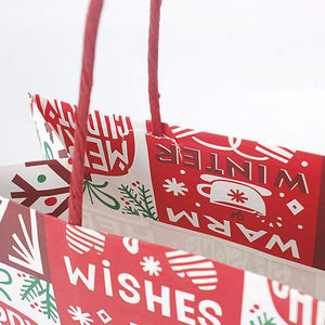 Kraft Paper Gift Shopping Bags with Handles 12 PCS
