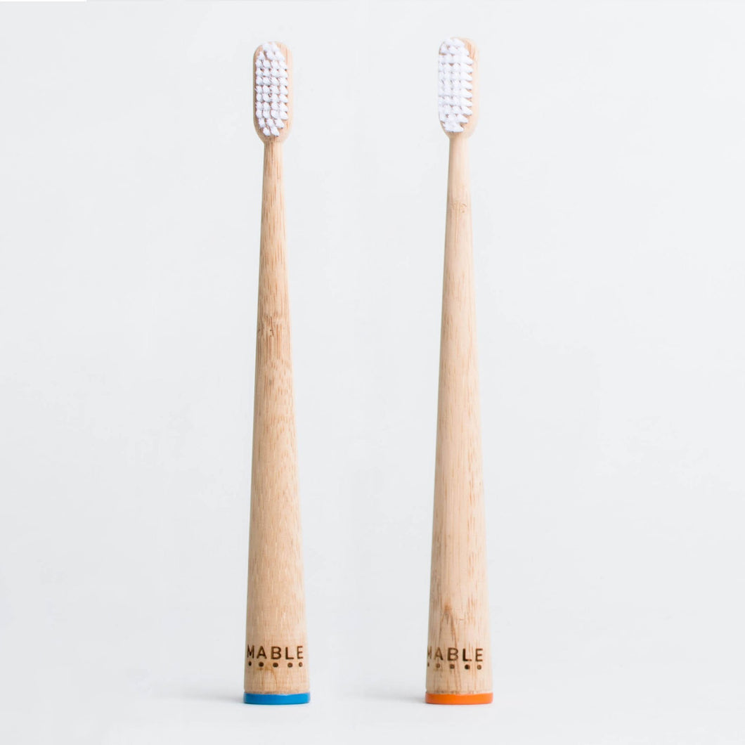 Bamboo  Self-Standing Toothbrush, Pack of 2