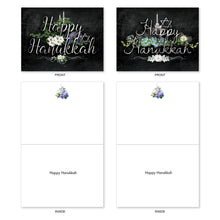 "Load image into Gallery viewer, 'Hanukkah Chalk And Roses' Assorted Cards (Size 4"" x 5.12"")"