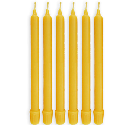 100% Pure Organic Handmade Beeswax Taper Candles 8